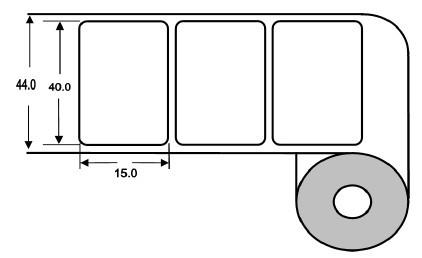 Eurebis 40x15mm PP matt, P/TK2, 1'900 Et/R
