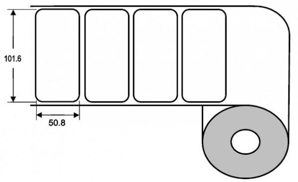 Eurebis 102x51mm Papier glanz, P/TK1, 1'250 Et/R