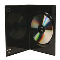 DVD SlimBox schwarz, mit transparenter Aussenhülle