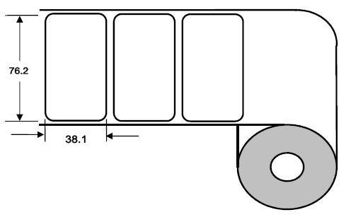 Eurebis 76x38mm Papier glanz, P/TK1, 1'600 Et/R