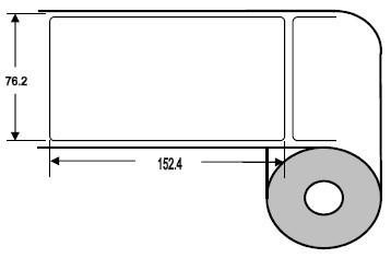 Eurebis 76x152mm Papier glanz, P/TK1, 500 Et/R