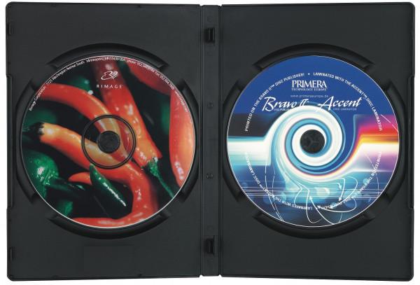 DVD Doppelbox, schwarz mit transparenter