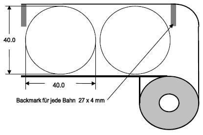 Eurebis 40mm rund Papier glanz, P/TK1, 1'700 Et/R