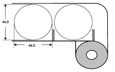 Eurebis 44mm rund Papier glanz, P/TK1, 1'400 Et/R