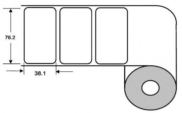 DTM 76x38mm Paper High Gloss, 1'600 Et/R