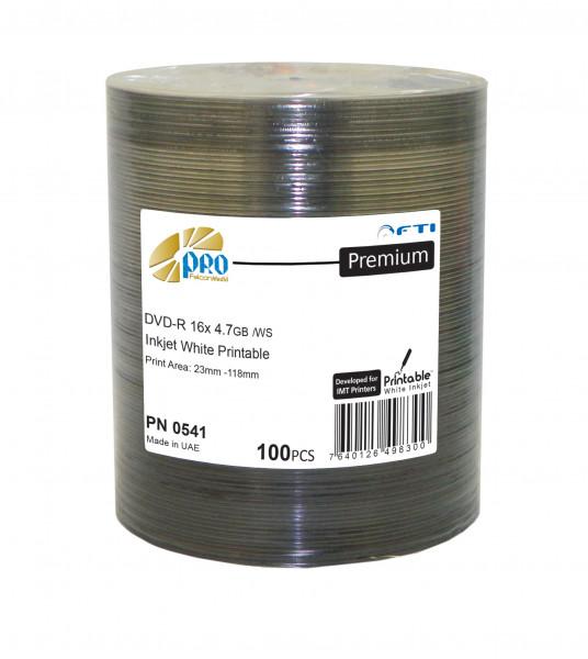 DVD-R FTI 'PREMIUM' 4.7GB, weiss Inkjet matt