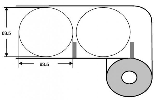 Eurebis 64mm rund Papier glanz, P/TK1, 1'000 Et/R