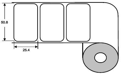 Eurebis 51x25mm PP glanz, P/TK1, 2'250 Et/R