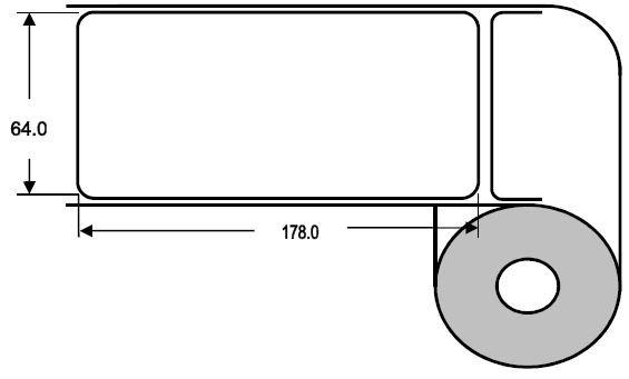 Eurebis 64x178mm Papier glanz, P/TK1, 450 Et/R