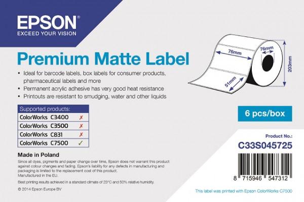 Epson 76x51mm Papier matt, 2310 Et/R