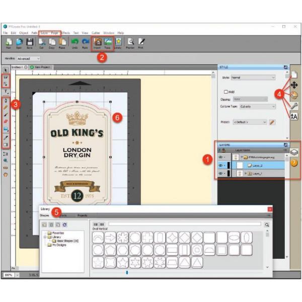 Primera PTCreate Pro Software für LX610e (078230)