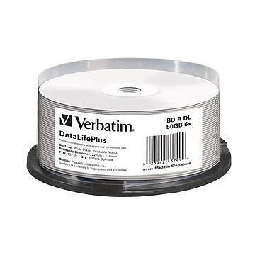 BD-R Verbatim 50GB, 6X, weiss Inkjet (43749)