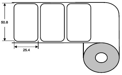 Eurebis 51x25mm PP matt, P/TK2, 2'250 Et/R