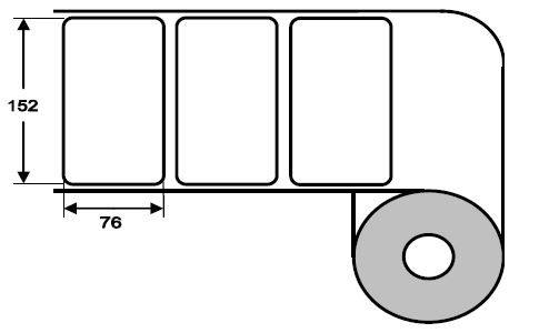 Eurebis 152x76mm Papier glanz, P/TK1, 900 Et/R