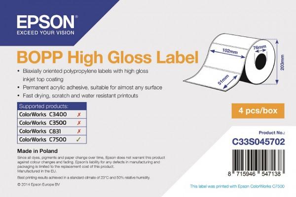 Epson 102x51mm BOPP glanz, 2770 Et/R