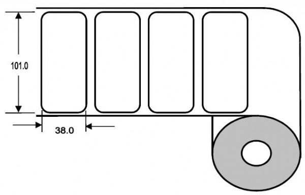 Eurebis 101x38mm Papier glanz, P/TK1, 1'600 Et/R