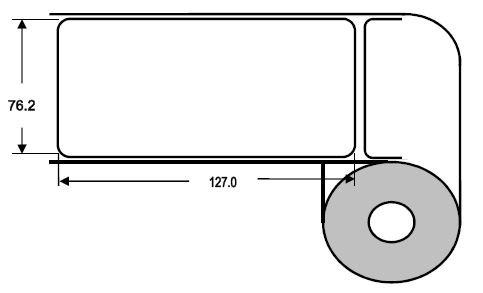 DTM 76x127mm Paper High Gloss, 500 Et/R