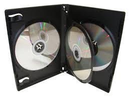 DVD Box (15mm), schwarz, für 3 DVD