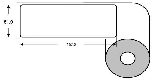 DTM 51x152mm Paper High Gloss, 425 Et/R
