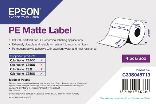 Epson 102x76mm PE matt, 1'570 Et/R