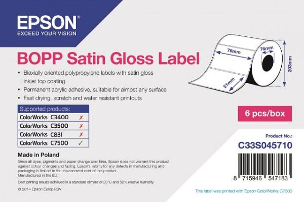 Epson 76x51mm BOPP matt, 2770 Et/R