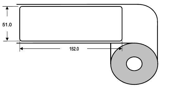 Eurebis 51x152mm Papier glanz, P/TK1, 500 Et/R