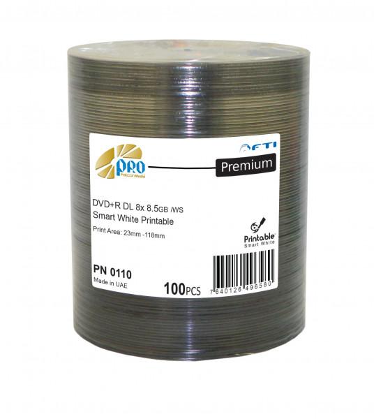 DVD+R DL FTI 'PREMIUM' 8.5GB, 8X, weiss Inkjet