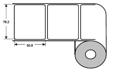 DTM 76x51mm Poly White Gloss, 1'250 Et/R