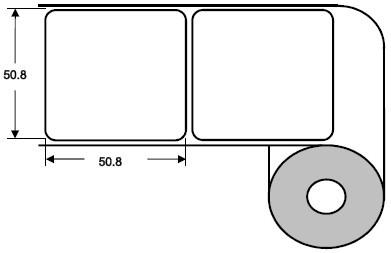 Eurebis 51x51mm Papier glanz, P/TK1, 1'250 Et/R