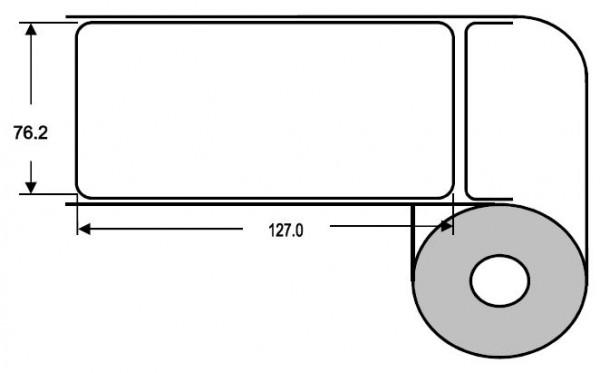 Eurebis 76x127mm Papier glanz, P/TK1, 600 Et/R