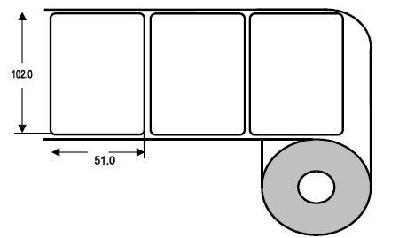Eurebis 102x51mm PP matt, P/TK2, 1'400 Et/R