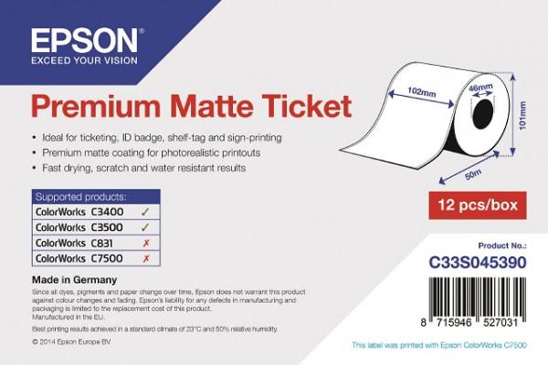 Epson 102mm x 50m Papier matt Ticket (C33S045390)