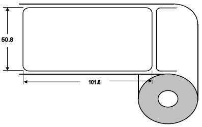 Eurebis 51x102mm Papier glanz, P/TK1, 700 Et/R