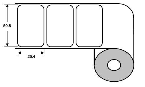 Eurebis 51x25mm Papier glanz, P/TK1, 2'500 Et/R