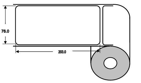 Eurebis 76x203mm Papier glanz, P/TK1, 400 Et/R