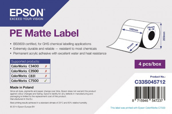 Epson 76x127mm PE matt, 960 Et/R