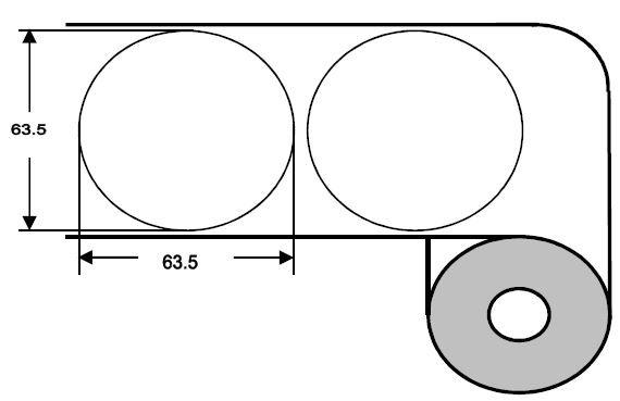 DTM 64mm rund Paper High Gloss, 1'000 Et/R