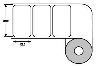 Eurebis 203x102mm Papier glanz, P/TK1, 700 Et/R