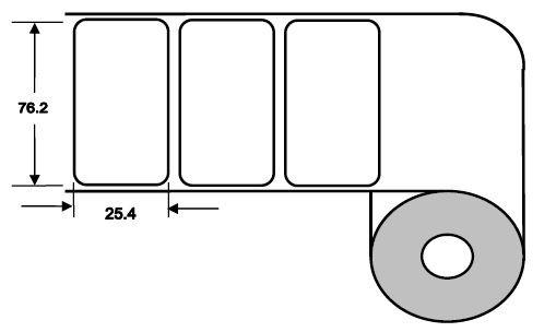 DTM 76x25mm Paper High Gloss, 2'375 Et/R