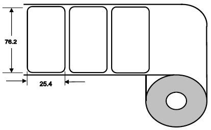 Eurebis 76x25mm Papier glanz, P/TK1, 2'500 Et/R
