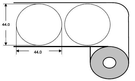 DTM 45mm rund Paper High Gloss, 1'400 Et/R