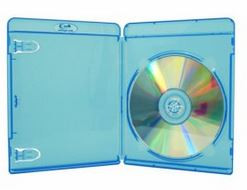 Blu-ray Box (11mm), blau transparent