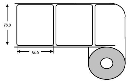 Eurebis 76x64mm PP glanz, P/TK1, 1'000 Et/R