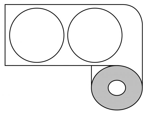 DTM 64mm rund Paper Matte, 1'000 Et/R