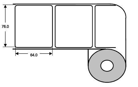 Eurebis 76x64mm Papier glanz, P/TK1, 1'000 Et/R