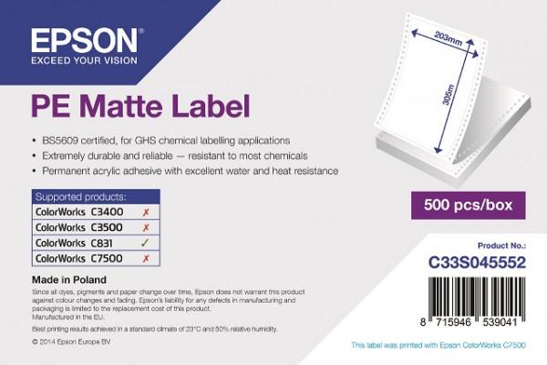 Epson 203x305mm PE matt, 500 Et/R