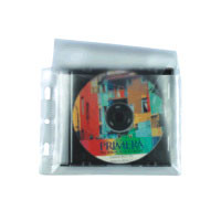 PVC Hülle gelocht, Kunststofftasche für 1 CD