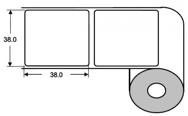 Eurebis 38x38mm Papier glanz, P/TK1, 1'600 Et/R